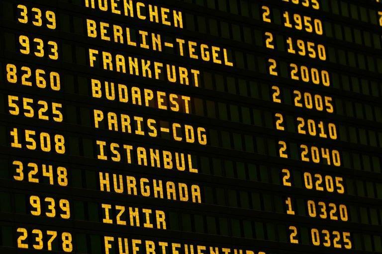 tableau aeroport